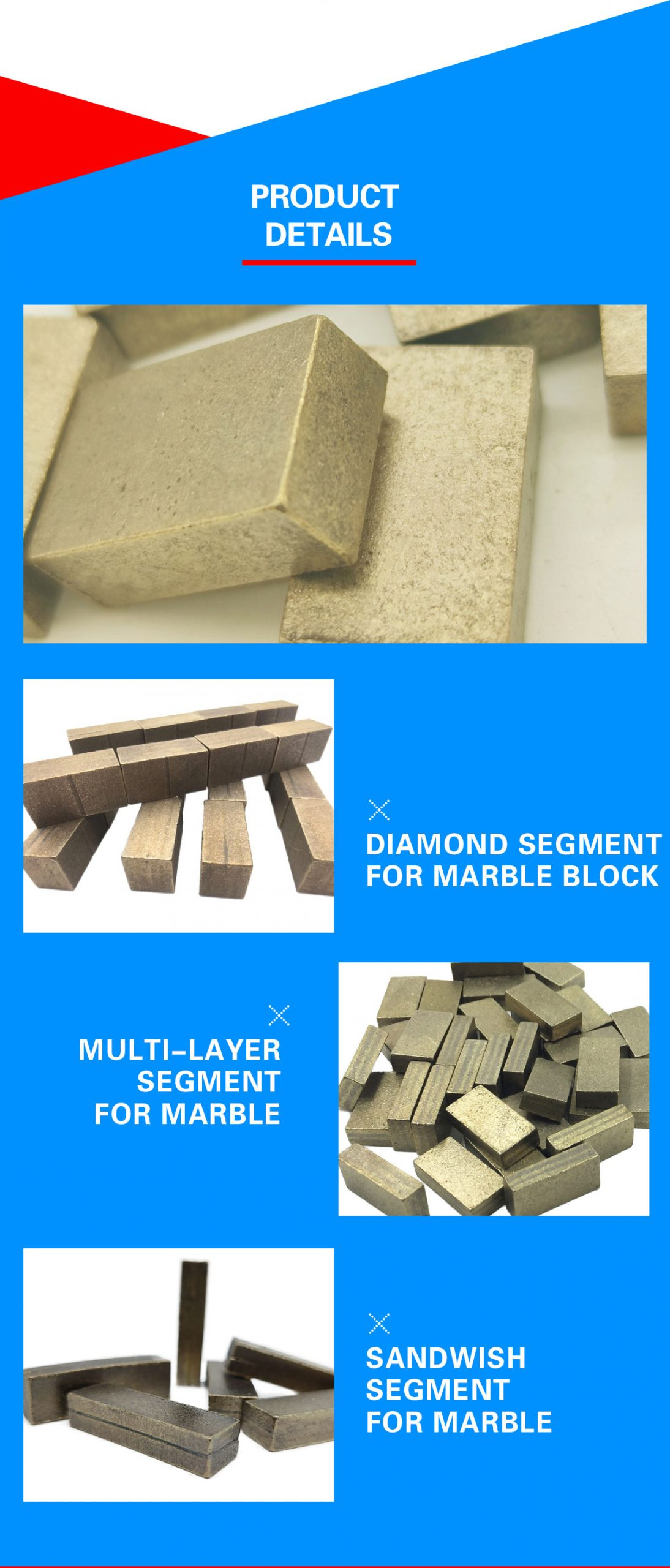 marble cutting segments