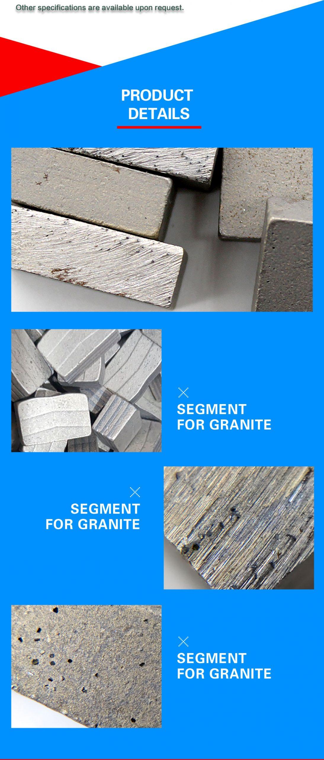 granite block and slab cutting segments