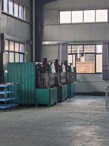 Diamond wire saw production workshop