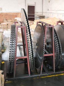 Diamond circular saw blade production workshop