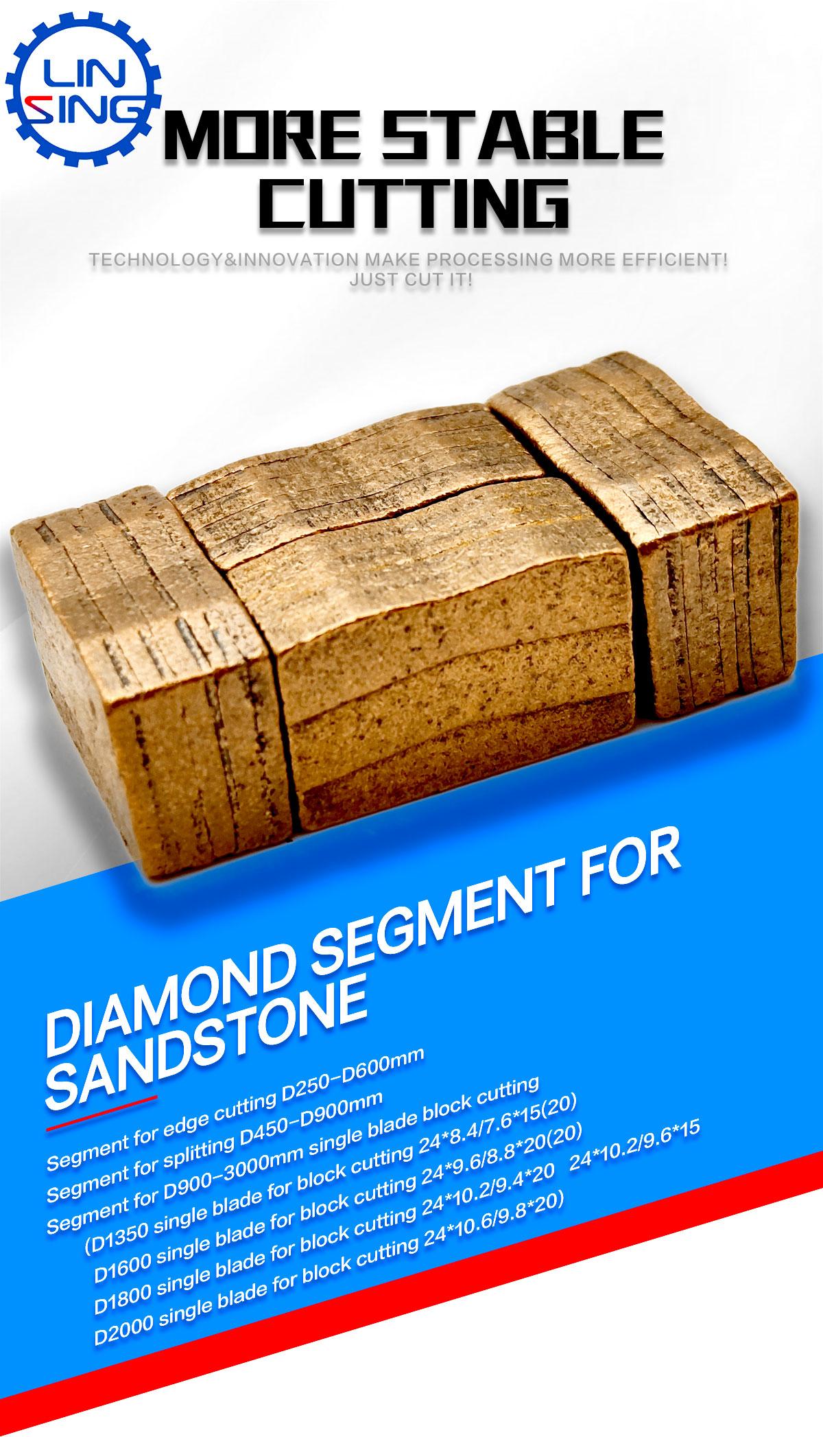 diamond segments for sandstone block cutting