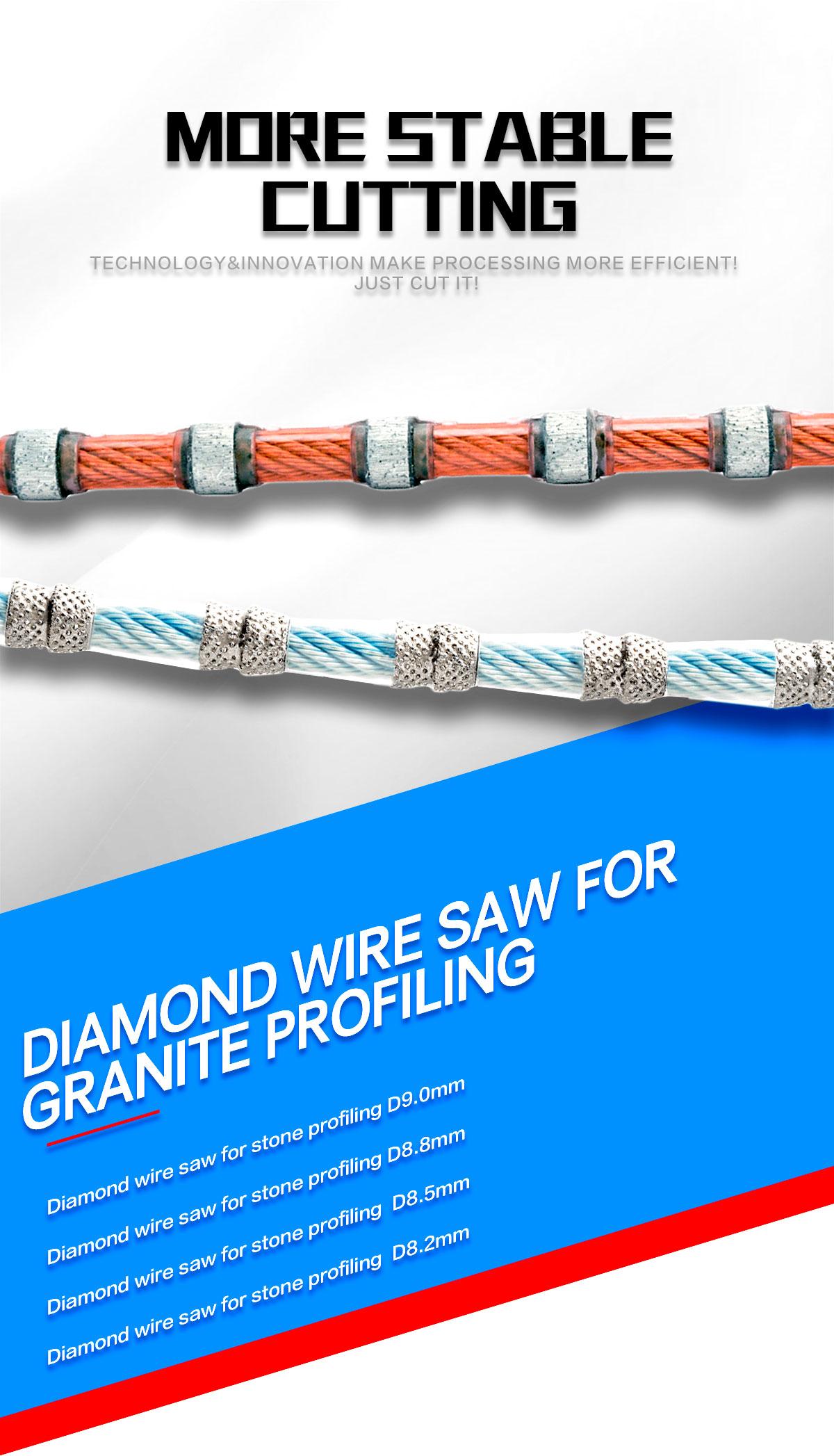 Diamond wire saw for granite profiling