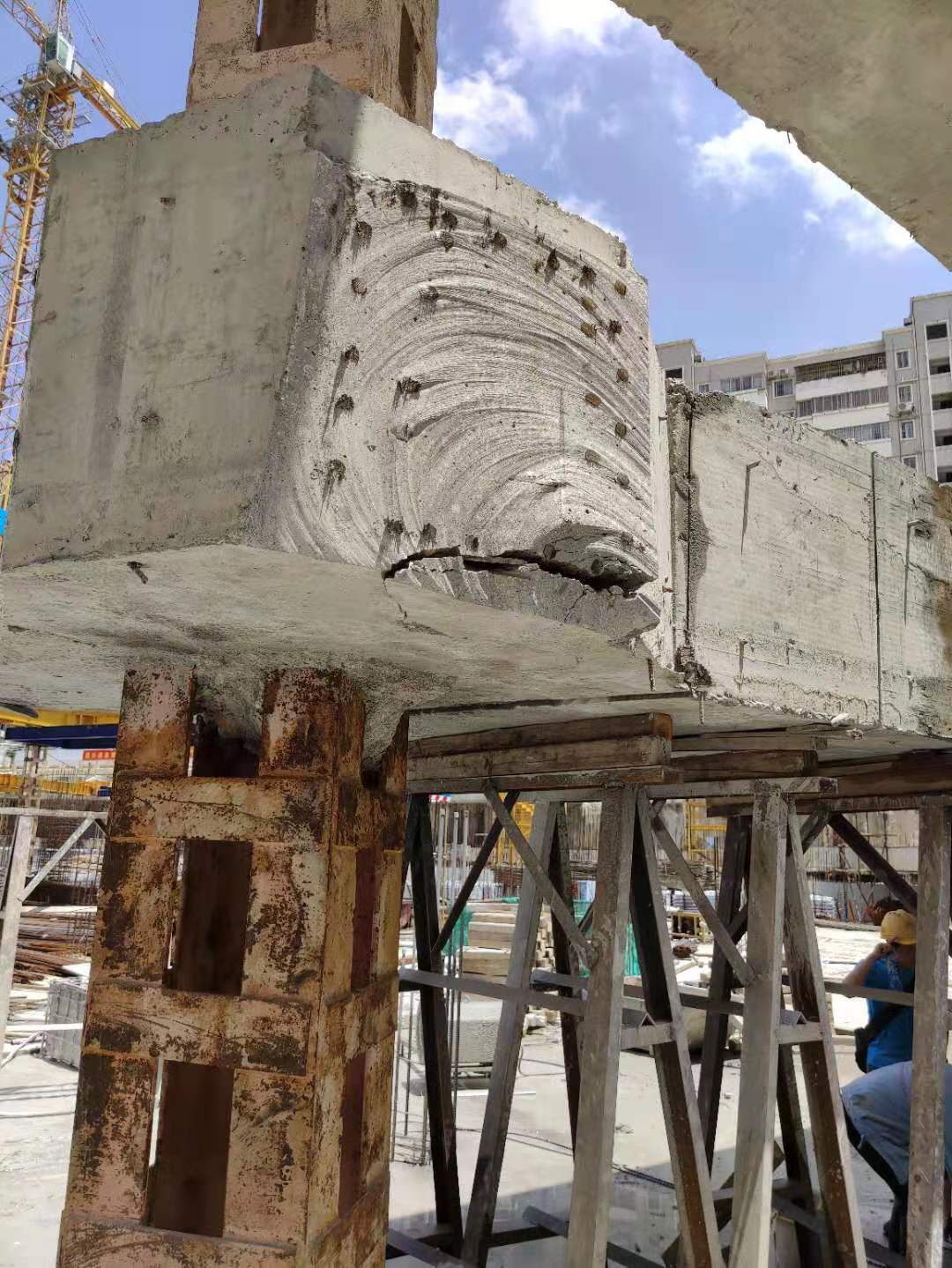 Reinforced concrete cutting