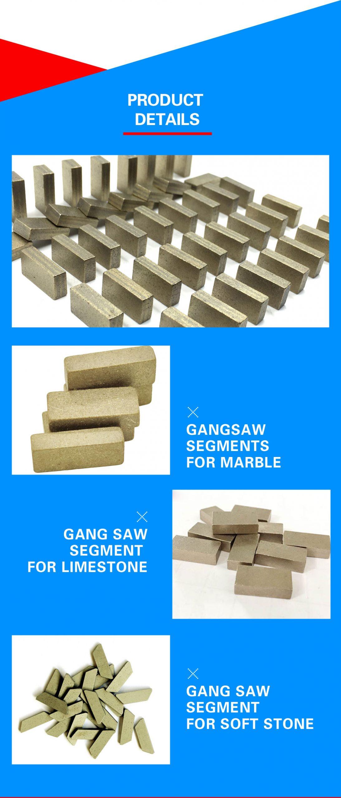 gangsaw segments for soft stones cutting