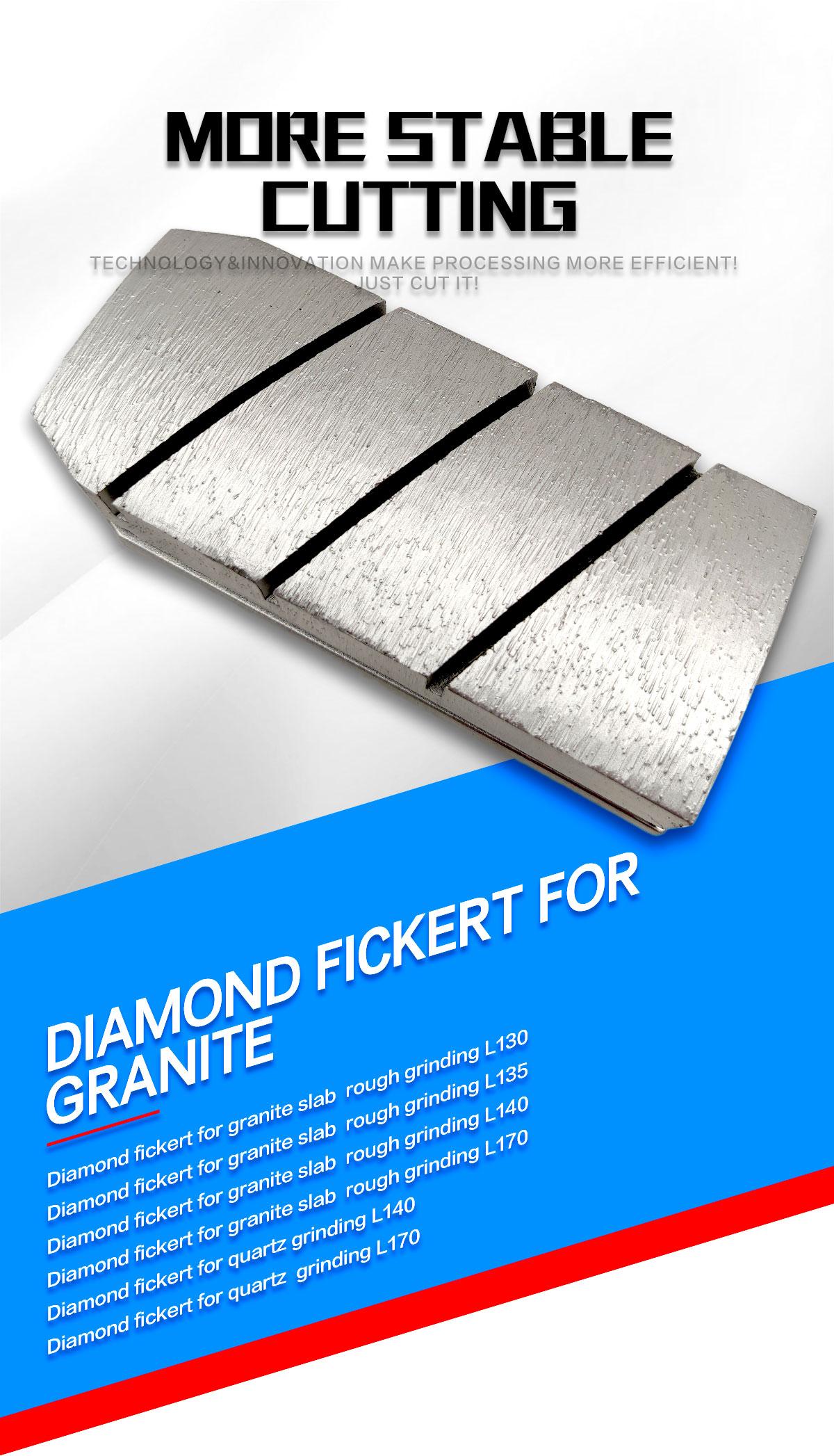 Diamond fickert for granite slab grinding