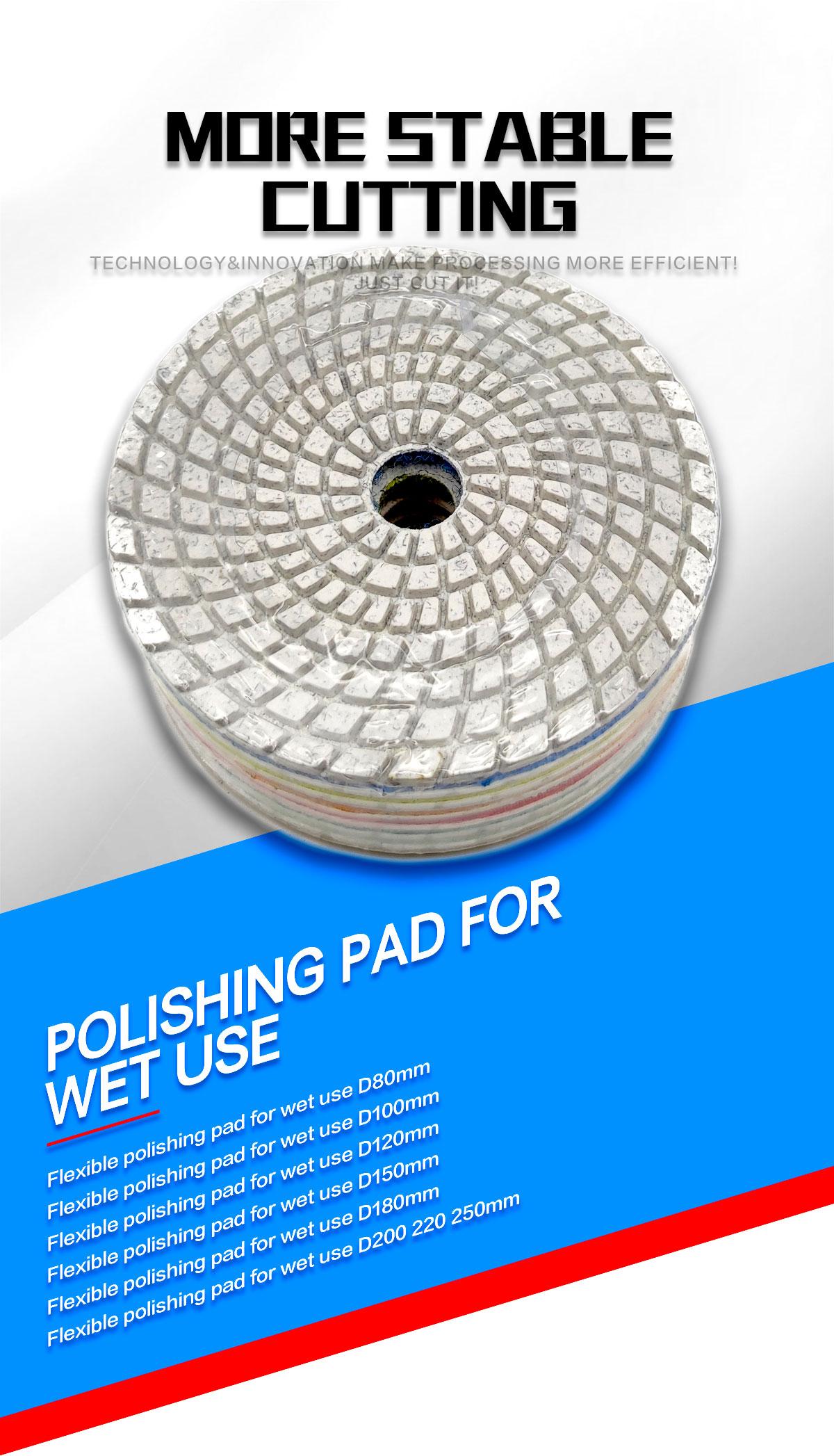 polishing pad for wet use