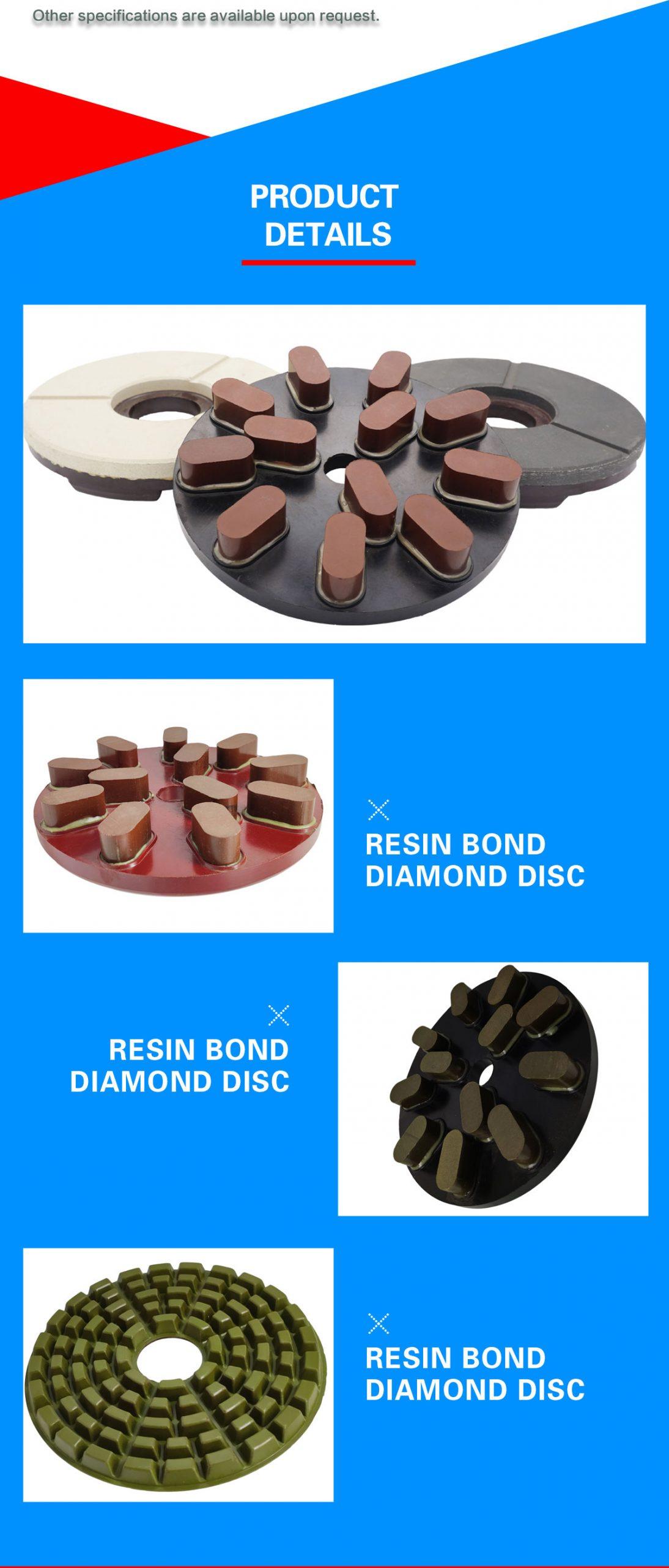 stone slab grinding abrasive, resin grinding disc