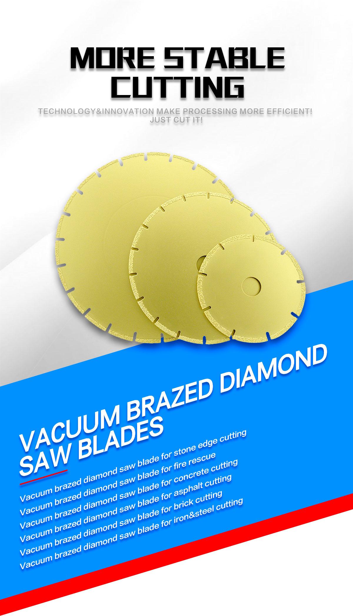 vacuum brazed diamond saw blade