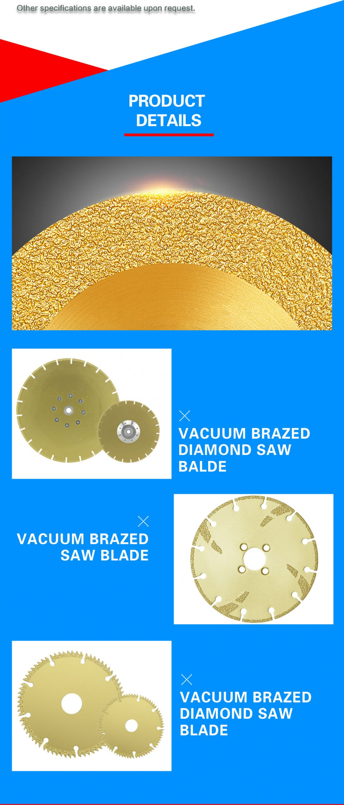 brazing saw blades for dry cutting