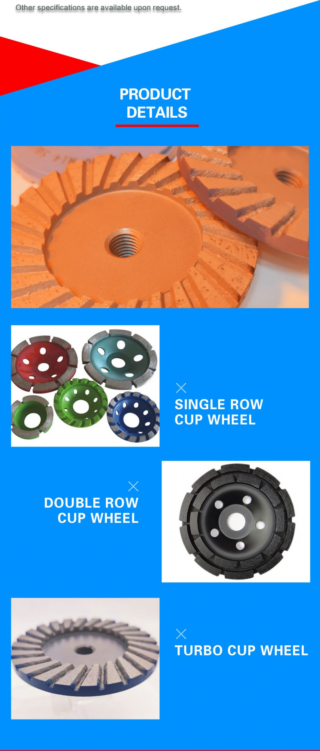 cup wheel for stone and concrete grinding&repairing